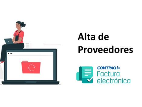 Es fácil dar de alta proveedores en CONTPAQi Factura Electrónica