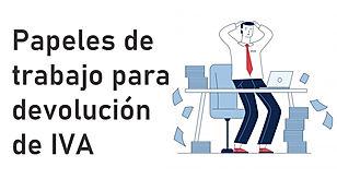 papeles devolucion de IVA
