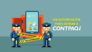 ¿Detalles con la autorización al ingresar al sistema CONTPAQi?