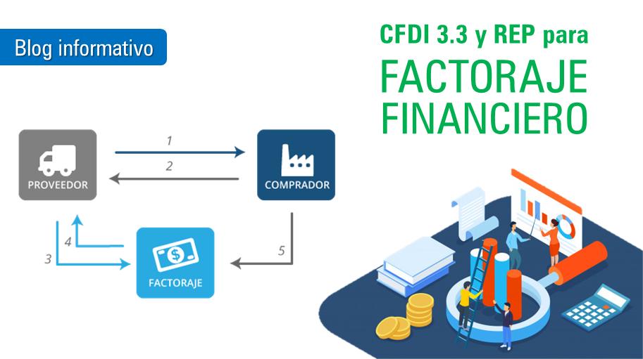 CFDI 3.3 de Facturaje financiero y complemento de recepcion de pago