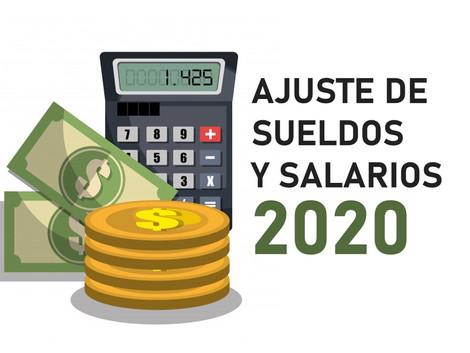 Ajuste anual de Sueldos y Salarios 2020