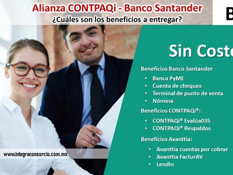 Alianza CONTPAQi - Banco Santander