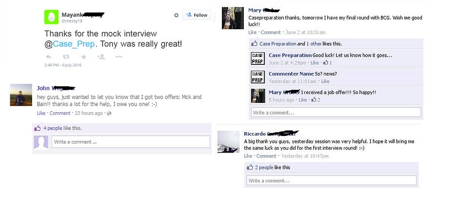 Interview preparation feedbacks