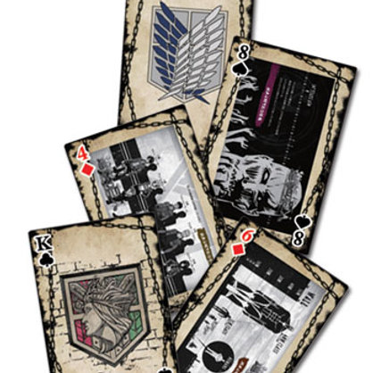 Attack on Titan -Eye Catch Artwork Group Playing Cards
