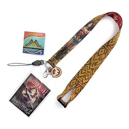 Wonder Woman Lanyard w/ ID Holder and PVC Lens Cleaner