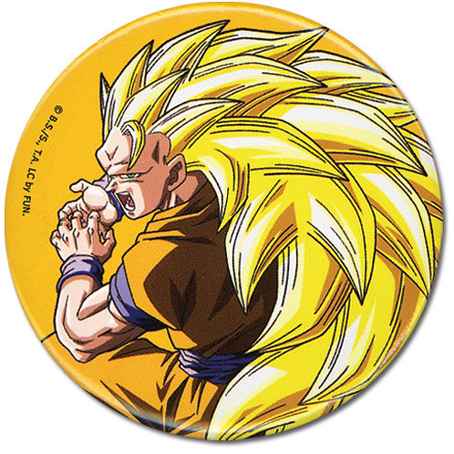 Dragon Ball Z - Super Saiyan 3 Goku Button