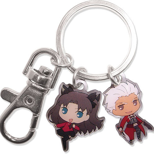 Fate/Stay Night Unlimited Blade Works - Archer and Rin Metal Keychain