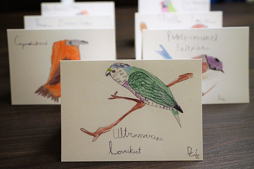 Set of 7 greeting cards