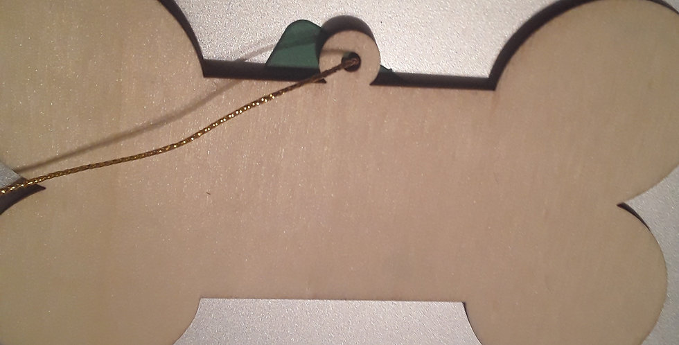 Christmas Ornament Dogbone