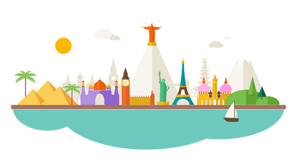 Flat design cityscape