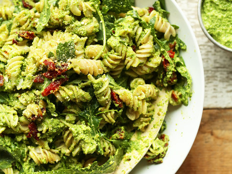 Avocado & Sun dried tomato pasta