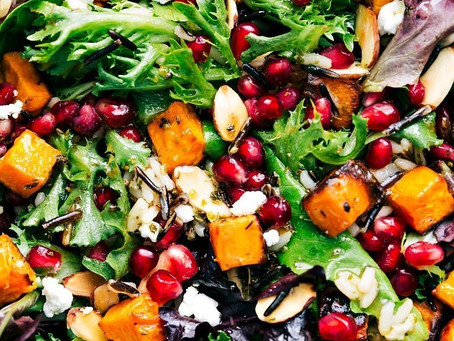 Wild Rice, Tomato & Pomegranate Salad