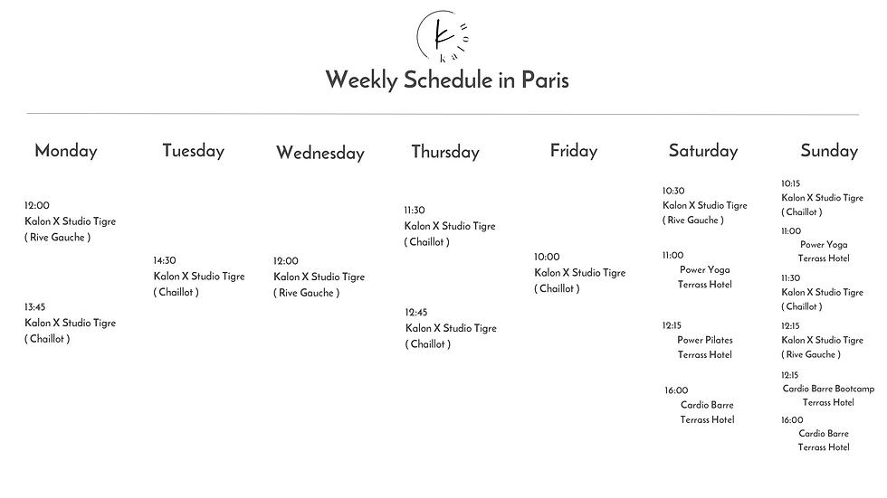 Kalon Paris Schedule.png