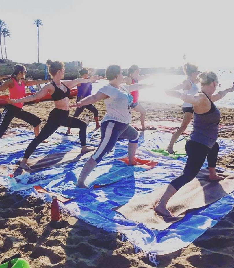 Yoga by the sea with Nadine