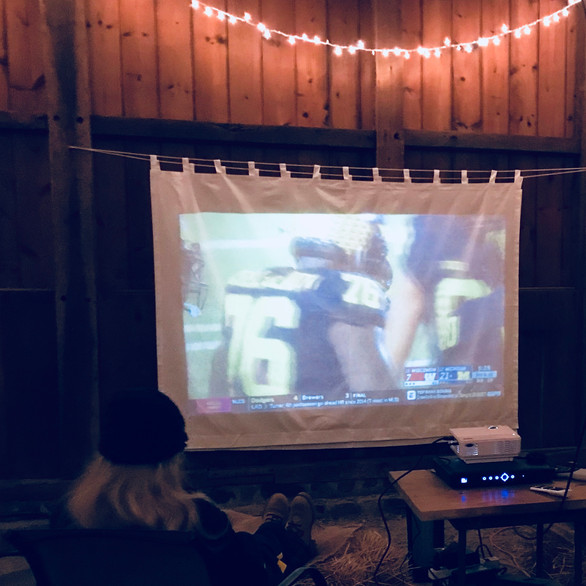 Football Party in Barn!