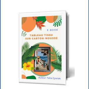E-book tissu sur carton mousse