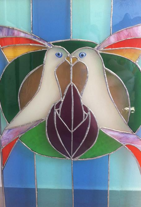 Vitrail oiseaux