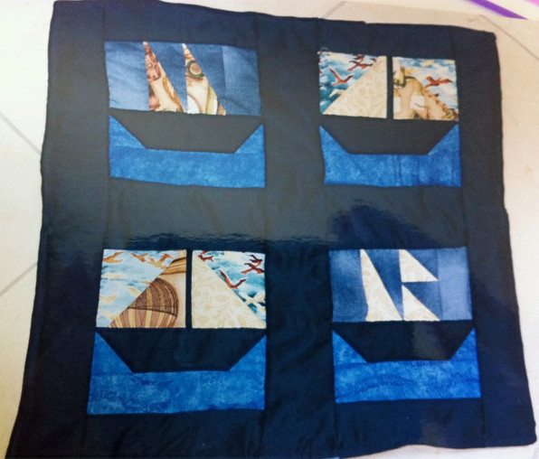 Coussin couture patchwork