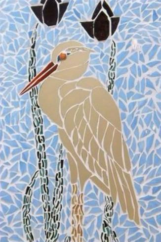 Mosaïque de verre oiseau