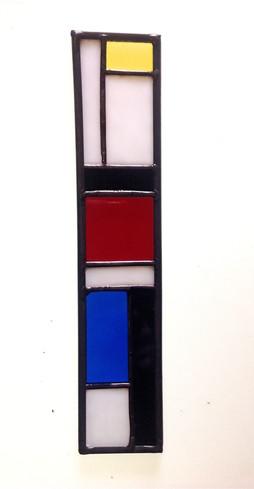 """Mini vitrail inspiration """"Mondrian"""""""