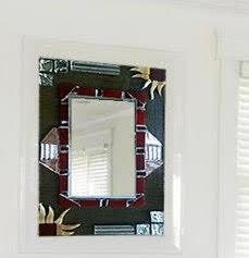 Miroir ethnique rectangulaire