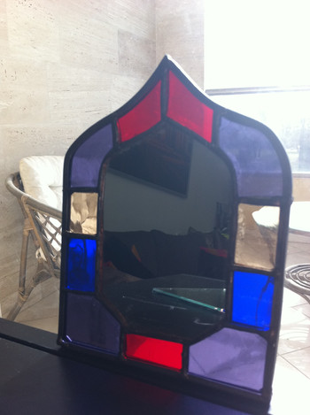 Miroir vitrail oriental