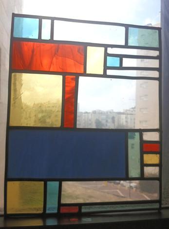 """Vitrail inspiration """"Mondrian"""""""