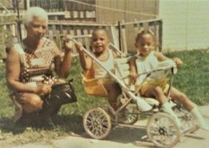 Grandma (Santa Maria Watkins) visiting w