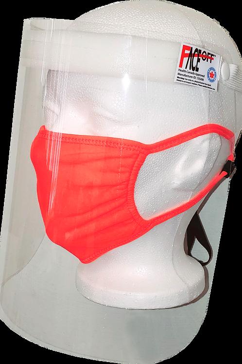 Non-Removeable Face Shield - Level 1 - Made in Canada