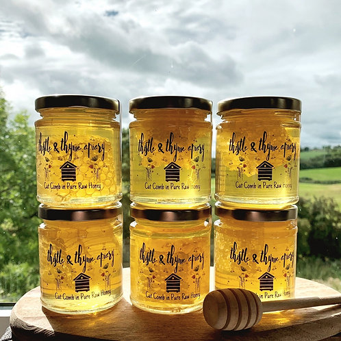 Pure Raw Honey with cut comb