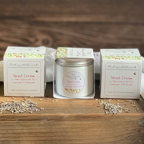 Hand Cream with Pure Essential Oils of Lavender and Patchouli