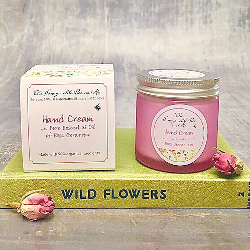 Hand Cream with Pure Essential Oil Rose Geranium