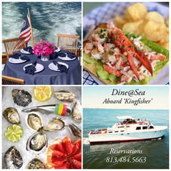 KINGFISHER Dine@Sea 6 Course Dinner Cruise