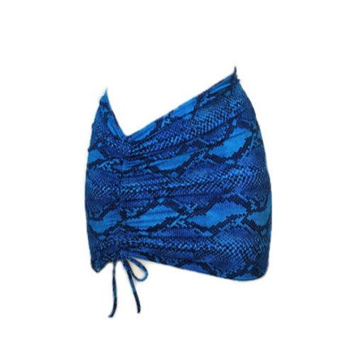 חצאית לבגד ים - נחש כחול