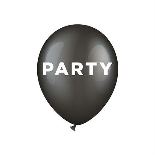 """BALLOONS 12"""" PARTY 6-P (6) 64405 JOKER"""