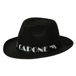 """""""BLACK AL CAPONE HAT"""". 01884 W"""