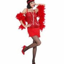 """FLAPPER"" (dress, headband with feather) 70323 W"