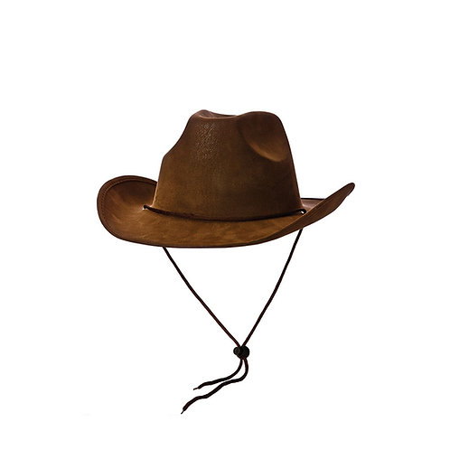 Cowboy Hat - Super Deluxe Brown Suede AC-9195 W