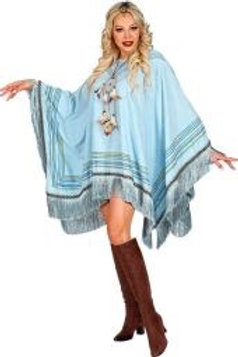 """Azure suede look """"PONCHO"""". 42932 W"""