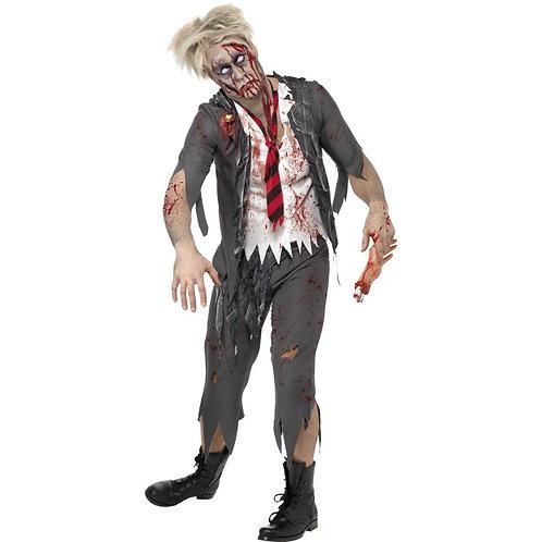 High School Horror Zombie Schoolboy Costume, Grey SKU: 32928