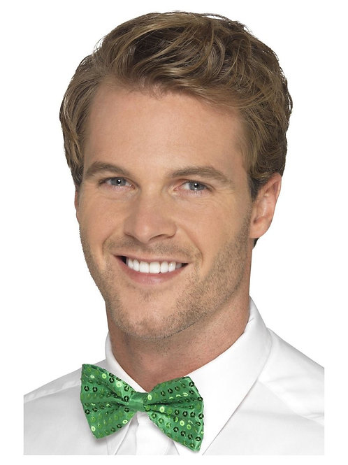 Sequin Bow Tie, Green. 44707 S