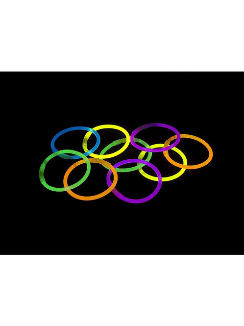 Glow Bracelet, Assorted Colours, 50 Pack. 22423 S