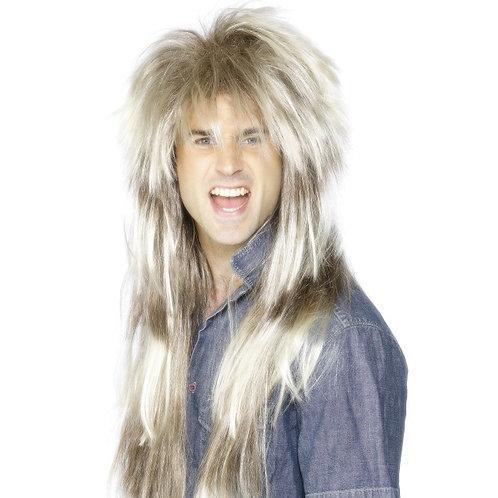 80'S Mega Mullet Wig, Blonde and Brown 42030 S