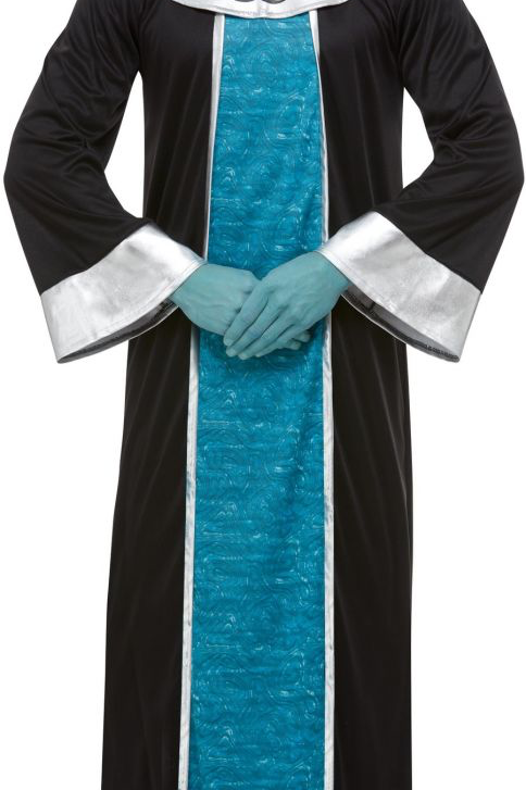 Alien Costume, Blue, with Robe & EVA Mask 51015 S