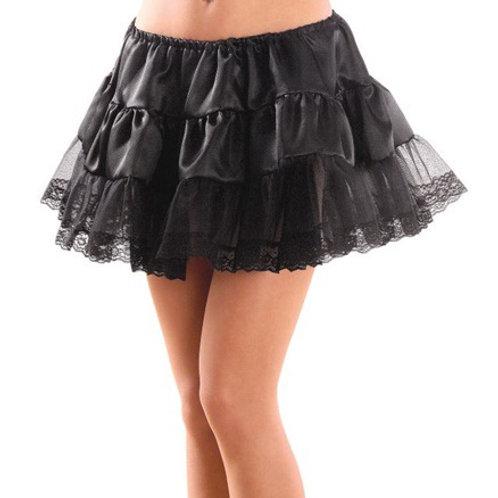 """BLACK PETTICOAT"""" satin & lace. 3363N Widmann"""