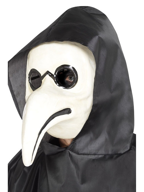 Authentic Plague Doctor Mask, White. 45036 Smiffys