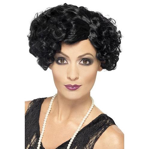 20'S Flirty Flapper Wig,Black. 42465 S