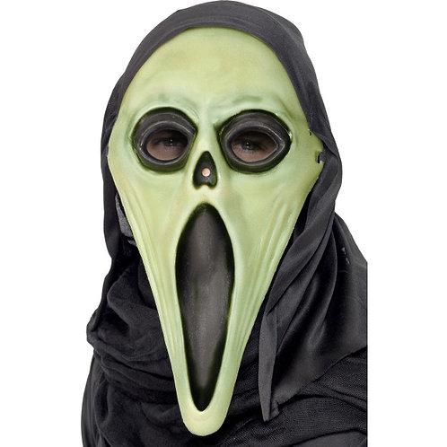 Glow In The Dark Screamer Mask, Black and White SKU: 99024