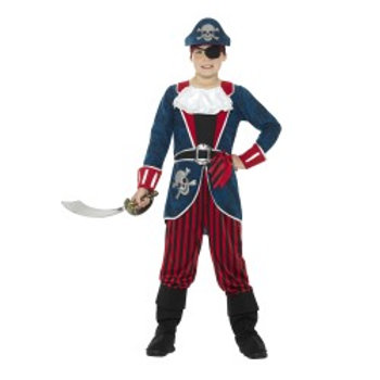 Deluxe Pirate Captain Costume, with Top, Trousers 21891 S