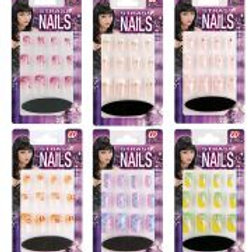 """Set of 12 STRASS NAILS"""" with glue tube an... 7144N W"""